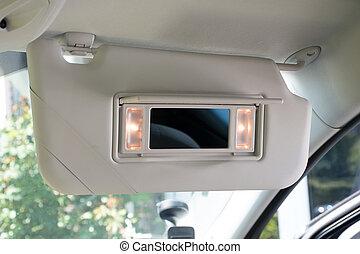 Car sun visor with mirror - Car sun visor with illuminated ...