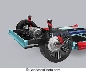 Car suspension and underframe