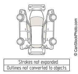 car suv drawing outlines not converted to objects