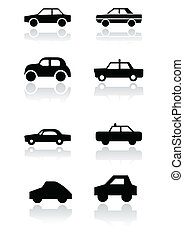 Car symbol vector set. - Vector set of different car...