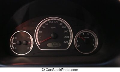 Car Tachometer Accelerating Slowly