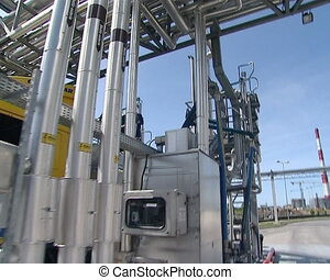 car tank fill biodiesel - freight car tank filling with...