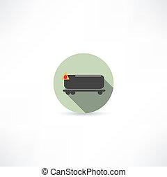 car, tanque, ícone