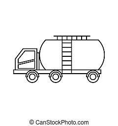 car, tanque, isolado, ícone