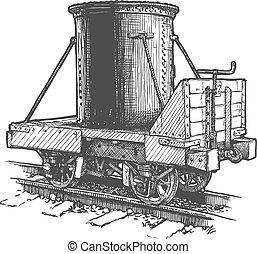 car, tanque, transporte ferroviário, vindima