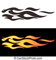 Car tattoo4 - Tribal flames illustration for car decal or...