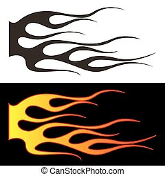 Car tattoo5 - Tribal flames illustration for car decal or...