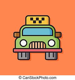 car taxi vector icon