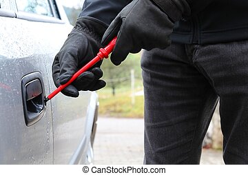 Car theft with screwdriver 3