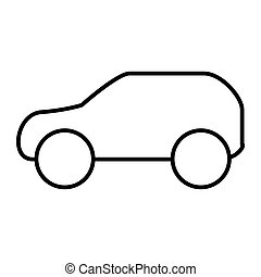 Car thin line icon. Automobile vector illustration isolated on white. Transport outline style design, designed for web and app. Eps 10.