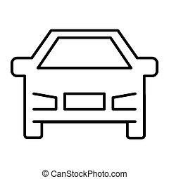 Car thin line icon. Vehicle illustration isolated on white. Transport outline style design, designed for web and app. Eps 10.