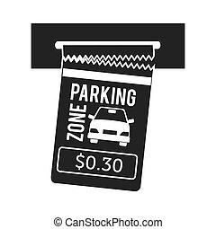 car ticket parking icon vector graphic