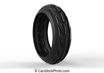 Car tire 3D rendering