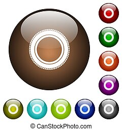Car tire color glass buttons