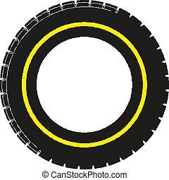 Car tire concept. Vector illustration