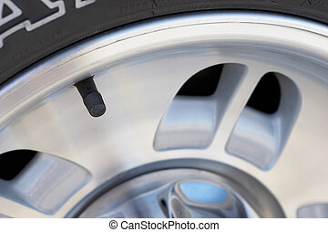 Car tire, wheel, and valve stem