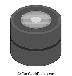 Car tires icon, isometric style