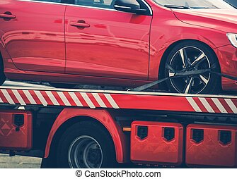 Car Towed Away on a Truck