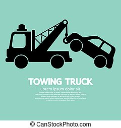 Car Towing Truck.
