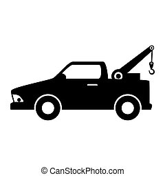 car towing truck silhouette - car towing truck tow service...