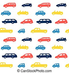 Car toy color seamless pattern background