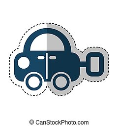 car toy isolated icon