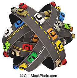 car, tráfego estrada