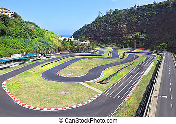 Car track in the island of Madeira