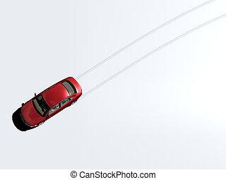Car Tracks - Car tracks from above