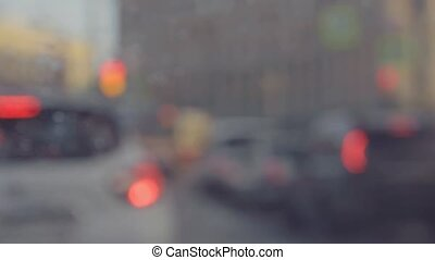car traffic bokeh lights background