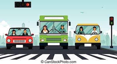 Car traffic light