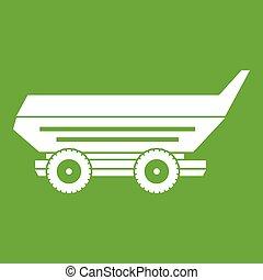 Car trailer icon green