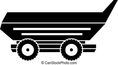 Car trailer icon simple - Car trailer icon in simple style...