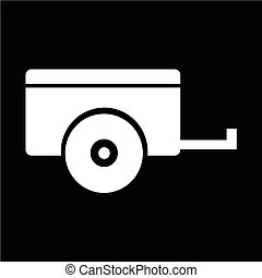 Car trailer icon vector illustration