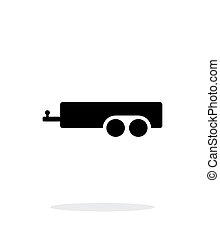 Car trailer simple icon on white background.
