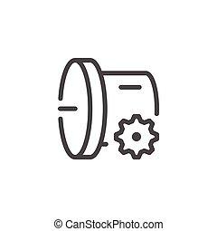Car transmission line icon