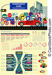 Car, transportation infographics