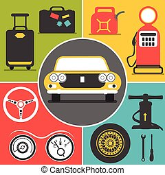 car travel icons