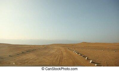 Car Trip in Desert