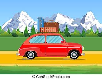 Car trip to camp,