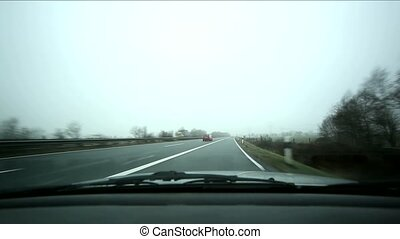 Car Trip With Fog