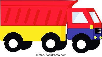 Car truck, illustration, vector on white background.