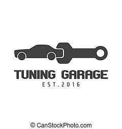 Car tuning, repair garage vector logo template