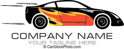 Car tuning. Sign for logo. Vector illustration