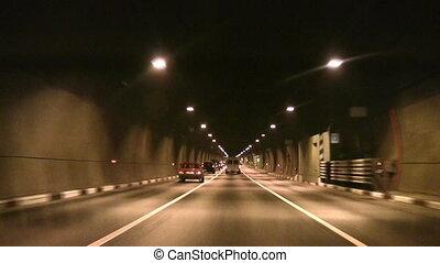 car tunnel - Car in tunnel
