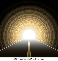 Car tunnel - Vector illustration of a car tunnel