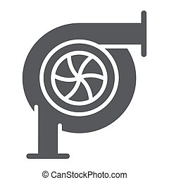 Car turbine glyph icon, auto and part, car detail sign,...
