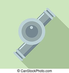 Car turbine icon, flat style - Car turbine icon. Flat...