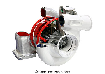 car turbo charger isolated on white