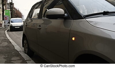 Car turn sign indicator blinker winker on vehicle - Car turn...